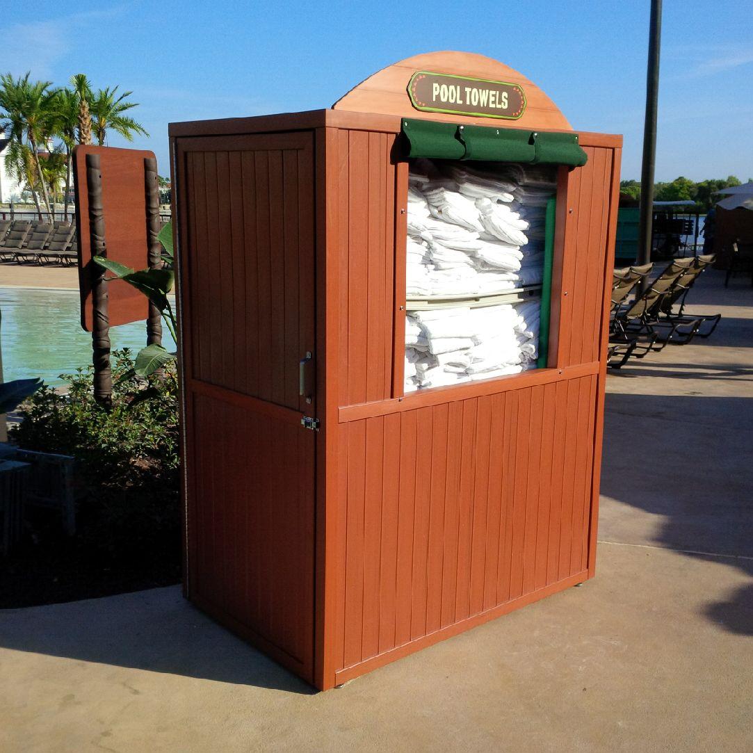 Amerikraft Synthetic Wood Towel Issue Bin American