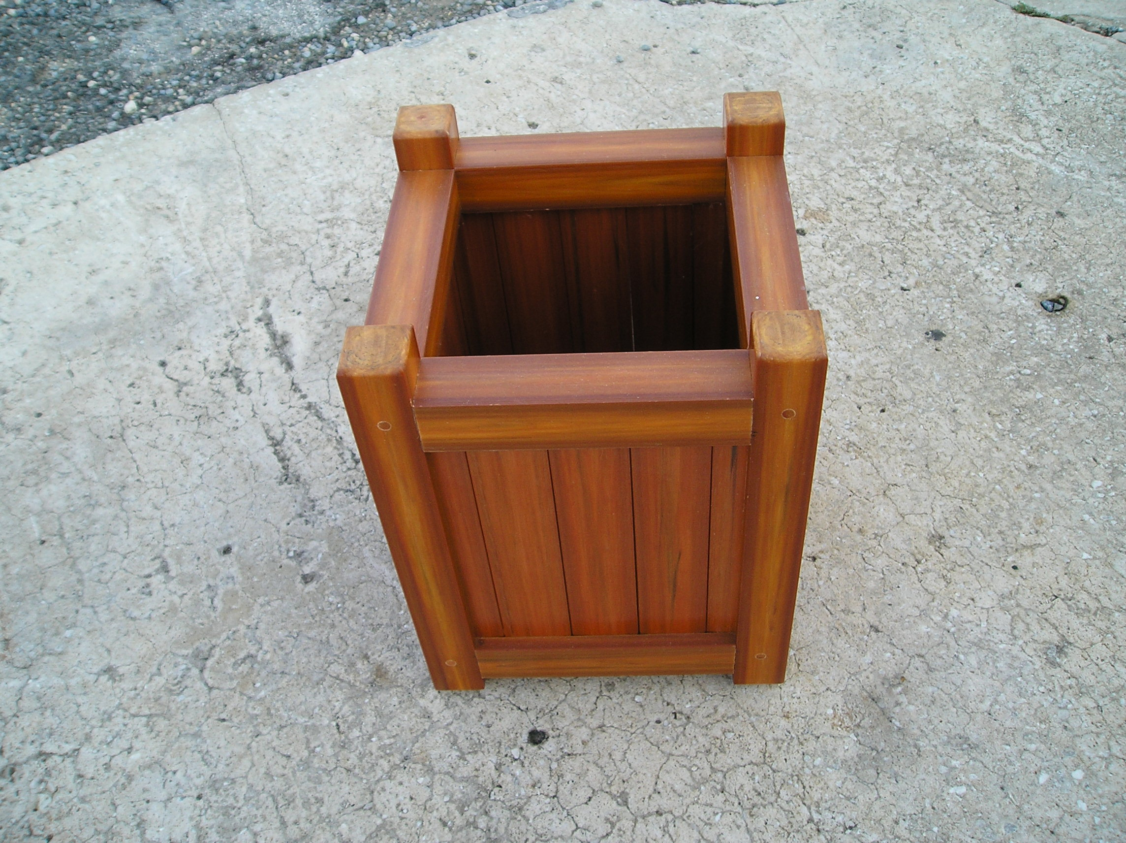 Amerikraft Synthetic Wood 14 Square Planter American