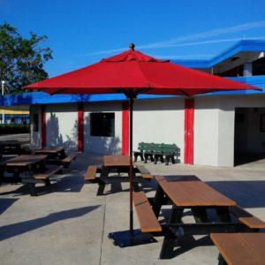 9 Ft Commercial Outdoor Umbrellas